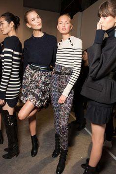 El talle alto+jersey es el combo perfecto para Isabel Marant #PFW