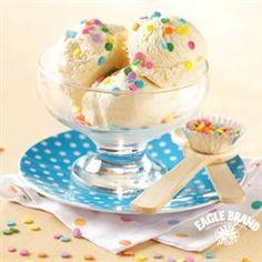 Classic Vanilla Ice Cream from Eagle Brand 1 vanilla bean or 2 tablespoons vanilla extract 2 cups (1 pt.) half-and-half 2 cups (1 pt.) heavy cream 1 (14 oz.) can Eagle Brand® Sweetened Condensed Milk