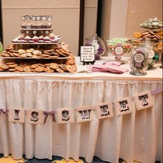 """Love is sweet"" cute for dessert table"
