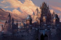 Winter Fortress by Steves3511 Fantasy castle Fortress concept art Fantasy city