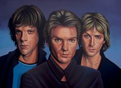 'The Police painting ' by Paul Meijering on artflakes.com as poster or art print $20.79