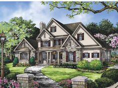 Traditional House Plan with 3138 Square Feet and 4 Bedrooms(s) from Dream Home Source | House Plan Code DHSW67015