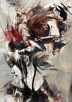 """Red Propeller Gallery will release this ultra-limited art print by Russ Mills tomorrow. """"Amphipod"""" is a x hand-finished (each totally unique) giclee, has an edition of and will cost They go up tomorrow (Wednesday, July at GMT. Art And Illustration, Abstract Faces, Art Graphique, Portraits, Portrait Art, Figure Painting, Artist Art, Modern Art, Digital Art"""