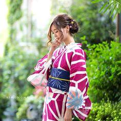 夏色美人15:紅紫 麻の葉模様