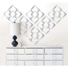 Jonathan Adler for WallPops/ Nixon Silver Mylar Kit. #walldecals  #wallart  #peelandstick  #WallPops  #wallstickers  #decor  #DIY  #decorating