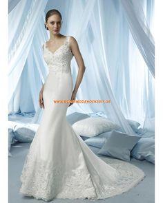 Elegantes Brautkleid stuttgart im Meerjungfrauenstil mit Applikation online 2013