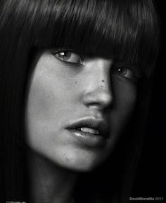 David Moratilla Amago Close Up portraits BodyPaint, Maya, mental ray, Photoshop, ZBrush June 2011