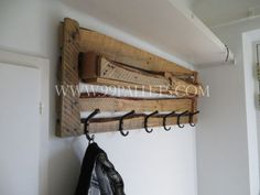 DIY Pallet Wood Coat Rack Tutorial