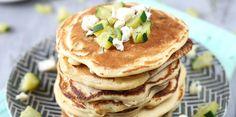 Pancakes au chèvre et aux courgettes