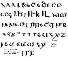 Calligraphy Alphabet : uncial