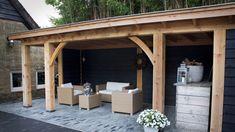 Poolhouse en overdekt terras, Everdingen - Bronkhorst Buitenleven Gazebo, Pergola, Porch, Outdoor Structures, Patio, Outdoor Decor, Geluk, Home Decor, Garden Ideas