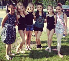 Nia, Paige, Chloe, Brooke, Maddie, and Kendall <3 #DanceMoms