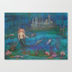 Mermaid+Kingdom+III+Stretched+Canvas+by+Iva+Wilcox+-+$85.00