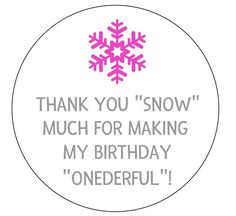 12 Snowflake Stickers, Onederland Theme, Thank You Snow Much, Thank You Tags, Favor Tags, Winter Birthday, First Birthday, Onederful Party by thepartypenguin on Etsy