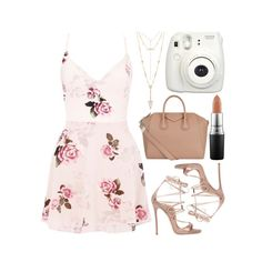 """""""Untitled #910"""" by kendalcanswim ❤ liked on Polyvore featuring Lipsy, House of Harlow 1960, Dsquared2, Givenchy and MAC Cosmetics"""
