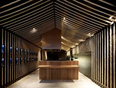 :: Sake Bar Made From Rope by Architects Eat (rope originated from Sake bottles)