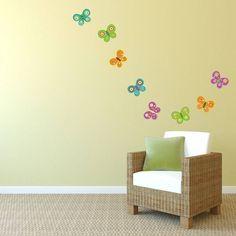 Personalised Butterfly Wall Sticker Butterfly wall stickers