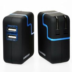 PowerGen Dual USB 3.1A 15w Travel Wall Charger with Swivel plug for Apple iPad 2, New iPad 3, iPhone 5 4s 4 3 3Gs, Amazon Kindle Fire HD DX KeyBoard, Samsung Galaxy Tab (USB Cable NOT included) - BLACK       http://www.amazon.com/dp/B0091XIUKY/?tag=pin2pin-20