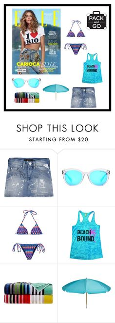 """Beach Bound: Pack and Go: Rio de Janeiro"" by im-karla-with-a-k ❤ liked on Polyvore featuring Michael Kors and Sheridan"