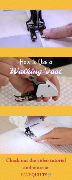 What does a walking foot look like? What is a walking foot used for? Find out everything you need to know on this page!