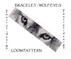 Loom pattern - animal bracelet pattern - Wolf Eyes
