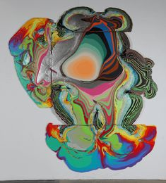 Artist Holton Rower's creations will have you feeling the flower power of the 1960's.  He creates bold and vibrant pour paintings by combining the force of gravity with gallons of paint.