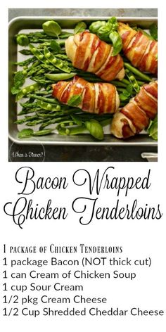 Bacon Wrapped Chicken Tenderloins