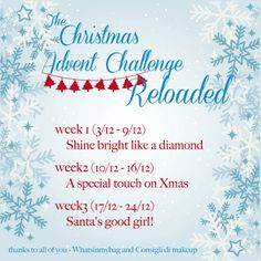 """The Christmas Advent Challenge Reloaded - """"Shine bright like a diamond"""" What In My Bag, Xmas, Christmas, Advent, About Me Blog, Thankful, Challenges, Rainbow, Bright"""