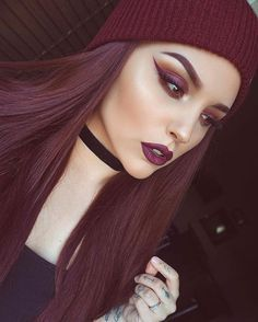 Hot Chic Maroon Toned Makeup Look