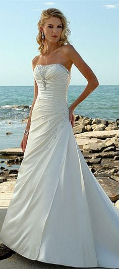 wedding dress wedding dresses #Straplessweddingdresses