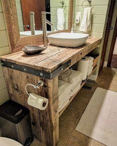 Cheap Bathroom Vanities, Cheap Bathrooms, Bathroom Red, Simple Bathroom, Bathroom Storage, Bathroom Ideas, Bathroom Mirrors, Barn Bathroom, Bathroom Organization