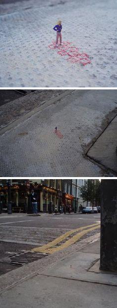 """No playgrounds left"" - By Slinkachu"