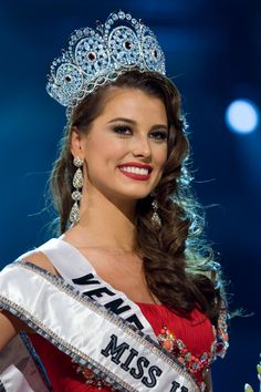 Stefanía Fernández Krupij (born September 4, 1990) is a Venezuelan beauty pageant titleholder who won the Miss Venezuela 2008 and Miss Universe 2009 titles. She earned a Guinness record by being the first Miss Universe winner who was crowned by a compatriot.