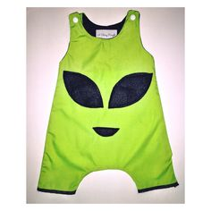 Baby infant children toddler kids romper overalls onesie alien face kids alien clothing harem Pants or shorts cotton  https://www.etsy.com/listing/448520556/alien-romper