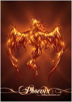 Phoenix by erickenji on DeviantArt Grey Ink Tattoos, Body Art Tattoos, Cool Tattoos, Ear Tattoos, Phoenix Artwork, Phoenix Images, Phoenix Wallpaper, Phoenix Dragon, Phoenix Bird