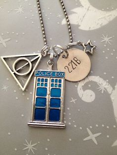 Ultimate Fandom Necklace. Harry Potter, Sherlock, Doctor Who. All it needs is a symbol for Supernatural...