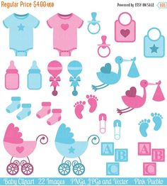 The Boy and Girl Baby Clipart comes set with 22 PNG files with transparent backgrounds, 22 JPG files with white backgrounds and 1 Adobe Illustrator vector file.  The PNGs and JPGs are 300 dpi and approximately 10 inches at their widest point.  We are always BUY THREE GET ONE FREE! Buy any three items in our shop and get another item free! The lowest priced item of the four items is free; just purchase three items and list which additional digital item you would like free in the comments to…