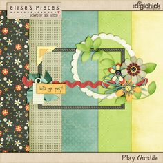 Play Outside tiny kit freebie from Elise's Pieces