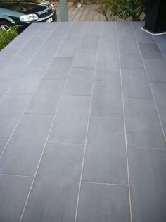 Bluestone Pavers Rectangular Outdoor Courtyard