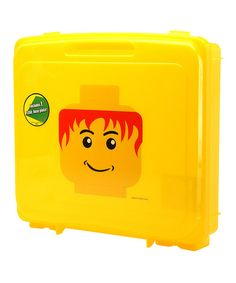 Store mini masterpieces in this portable project case. Constructed from durable materials and featuring a molded LEGO graphic, it's the perfect place to preserve fridge-worthy finger paintings and cool keepsakes. 13.06'' W x 12.31'' H x 3.125'' DPolypropyleneRecommended for ages 3 years and up