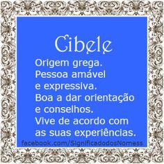 Significado do nome Cibele   Significado dos Nomes