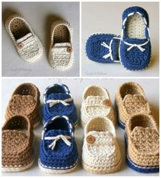 Items similar to Crochet Baby boy sailor shoes, baby loafers on Etsy Resultado de imagen para Free Crochet Baby Sailor Hat Pattern/etsy*com You will love this Crochet Moccasins Tutorial and we have a free pattern, video tutorial plus show you how to make Crochet Baby Boots, Crochet Sandals, Crochet Socks, Booties Crochet, Crochet Baby Clothes, Crochet For Boys, Baby Booties, Free Crochet, Knit Socks