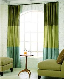 diy tri colored curtains