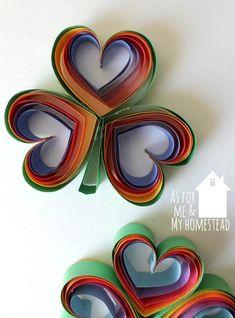 Rainbow Heart Clovers are a simple St. Patrick