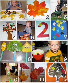 Awesome Autumn Crafts for young children.