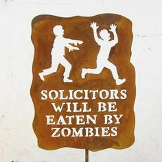 no soliciting....haha...Adam might even approve of this one