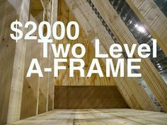 """An A-frame Cabin or Tiny House for $2000 (""""The Dart""""- Greenhouse Studio?) - YouTube  -  To connect with us, and our community of people from around the world, learning how to live large in small places, visit us at www.Facebook.com/TinyHousesAustralia"""