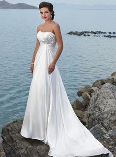 A-line Chiffon Sleeveless bridal gown