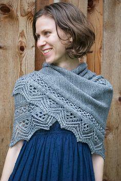 Flow Shawl By Andrea Rangel - Purchased Knitted Pattern - (ravelry) Knit Or Crochet, Lace Knitting, Crochet Shawl, Knitting Scarves, Shawl Patterns, Knitting Patterns, Bolero, Knit Wrap, Crochet Edgings