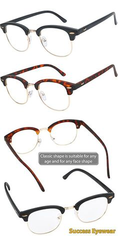 2bf9d661f4e READING GLASSES Set of 2 Fashion Clubmaster Style Readers Quality Spring Hinged  Glasses for Reading for Men and Women +1
